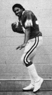 Greg Lewis in football uniform from high school years